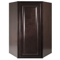 "Diagonal Wall 24"" Classic Onyx Kitchen Cabinet"