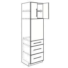 """Oven Base 33"""" x 84"""" Avalon White Kitchen Cabinet"""