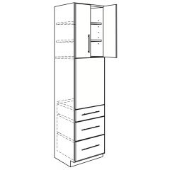 """Oven Base 33"""" x 96"""" Avalon White Kitchen Cabinet"""