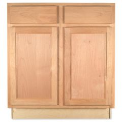 "Sink Base 30"" Unfinished Alder Kitchen Cabinet"