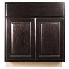 "Sink Base 30"" Classic Onyx Kitchen Cabinet"