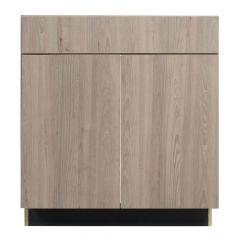 "Sink Base 30"" Madison Ash Kitchen Cabinet"