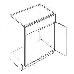 "Sink Base 33"" Avalon White Kitchen Cabinet"