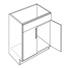 "Sink Base 36"" Broadway Luster Kitchen Cabinet"
