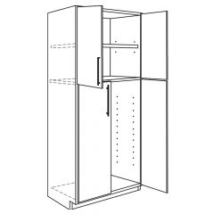 "Utility Base 24"" x 84"" Avalon White Kitchen Cabinet"