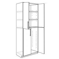 "Utility Base 24"" x 96"" Avalon White Kitchen Cabinet"