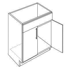 """Vanity Base 48"""" Avalon White Kitchen Cabinet"""