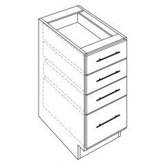 "3 Drawer Vanity Base 15"" Avalon White Kitchen Cabinet"