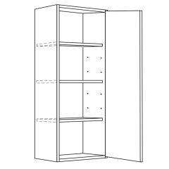 "Wall Cabinet 9"" x 42"" Avalon White Kitchen Cabinet"