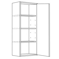 "Wall Cabinet 12"" x 42"" Avalon White Kitchen Cabinet"