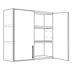 "Wall Cabinet 24"" x 30"" Avalon White Kitchen Cabinet"