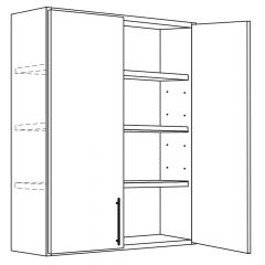 "Wall Cabinet 24"" x 42"" Avalon White Kitchen Cabinet"