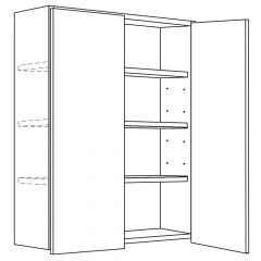 "Wall Cabinet 36"" x 42"" Avalon White Kitchen Cabinet"
