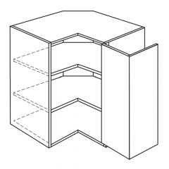 """Easy Reach Wall Cabinet 24"""" x 30"""" Broadway Luster Kitchen Cabinet"""