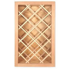 "Wine Rack 18"" x 30"" Unfinished Alder Kitchen Cabinet"