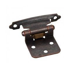 #111 Overlay Self Closing Hinge - Distressed Oil Rubbed Bronze