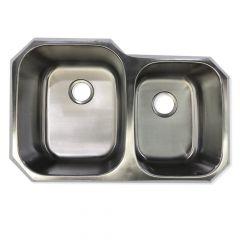 10918 Stainless Steel 60/40 18 Gauge Undermount Sink
