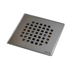 "6"" Square Grid Shower Drain"