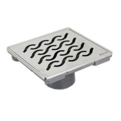 "6"" Wavy Design Shower Drain"