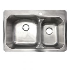 Drop-In Stainless Steel 60/40 Sink