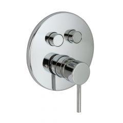 Huntington Brass P3222101 Contemporary Push Button Valve Trim - Polished Chrome