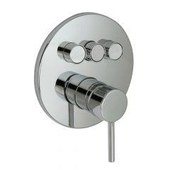 Huntington Brass P3322101 Contemporary Push Button Valve Trim - Polished Chrome