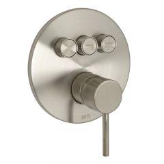 Huntington Brass P3322102 Contemporary Push Button Valve Trim - Satin Nickel