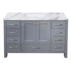"Carina 48"" Gray Vanity - Choose Your Top"