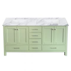 """Carina 72"""" Sage Double Vanity - Choose Your Top"""