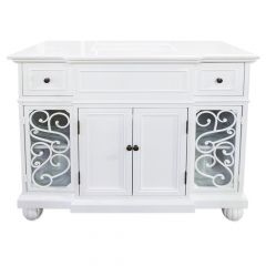 C128 Pure White Vanity with Classic White Top