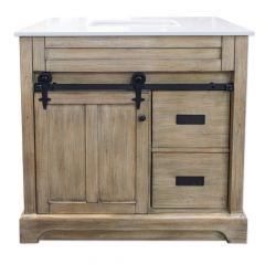 """C2352 36"""" Pine Barn Door Vanity"""