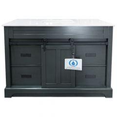 """C2353 48"""" Charcoal Barn Door Vanity"""