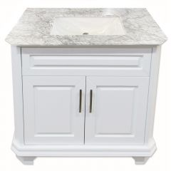 "Konnor 36"" White Vanity"