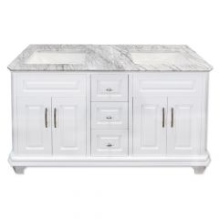 "Konnor 60"" White Double Vanity"