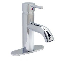 Huntington Brass Euro Curve Single Handle Lavatory Faucet - Polished Nickel