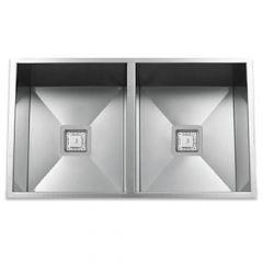 ZS-9100-S Zero Radius 50/50 Square Drain Stainless Steel Sink