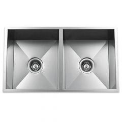 ZS-9100 Zero Radius 50/50 Undermount Stainless Steel Sink