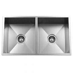 ZS-9100 Zero Radius 50/50 Undermount Stainless Steel Sink