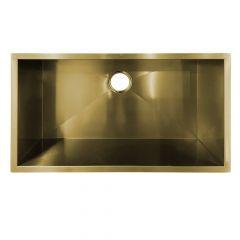ZS-9300 Zero Radius Undermount Brushed Brass Sink