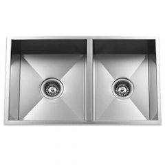 ZS-9400 Zero Radius 60/40 Undermount Stainless Steel Sink