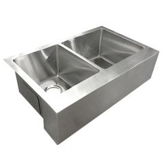ZS-FH03 Farmhouse 50/50 Undermount Stainless Steel Sink