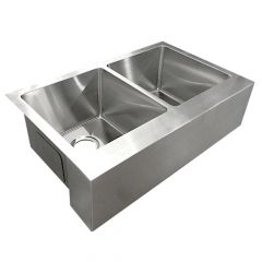 ZS-FH05 Farmhouse 60/40 Undermount Stainless Steel Sink