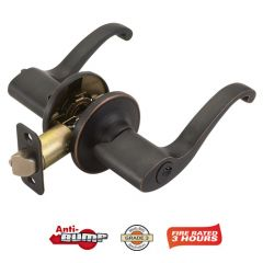 Design House Scroll Exterior Lever Handleset - Oil Rubbed Bronze