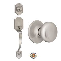 Design House Sussex Entry Handleset w/Cambridge Knob - Satin Nickel