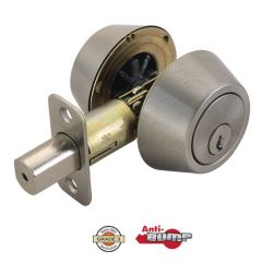 Design House Double Cylinder Deadbolt - Satin Nickel
