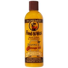 Howard Feed-N-Wax Wood Polish & Conditioner - 16oz.