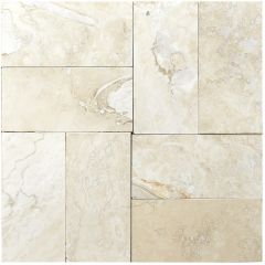 "Classic Torreon 3"" x 6"" Filled & Honed Travertine Mosaic Tile"