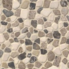 Mixed Marble Pebbles Tumbled Mosaic Tile