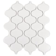 "White Arabesque 12"" x 12"" Lantern Limestone Mosaic Tile"