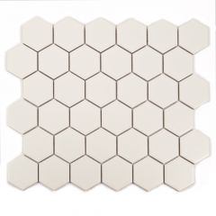 "Biscuit Hexagon 12"" x 12"" Porcelain Mosaic Tile"